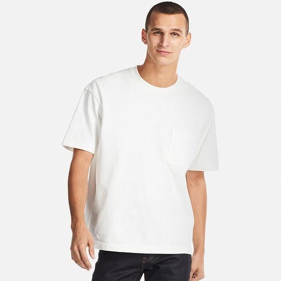ユニクロ|ビッグシルエットポケツキT(半袖)|MEN(メンズ)|公式オンラインストア(通販サイト). ド直球の白無地Tシャツ ...